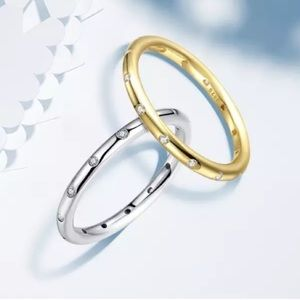 Jewelry - Sterling Silver Droplets Stackable Ring - Gold